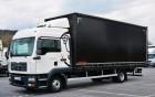 ciężarówka firanka MAN używana