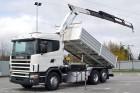 ciężarówka wywrotka trójstronny wyładunek Scania używana