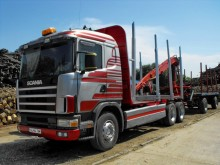 camion transport buşteni Scania second-hand