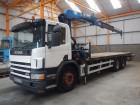 Scania 94D FLATBED CRANE - 2004 - BU04 EGD truck