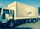 used Volvo dropside flatbed tarp truck