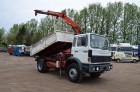 ciężarówka Renault G260 TIPPER + CRANE