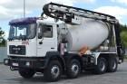 camion betoniera cu rotor/ Malaxor MAN second-hand