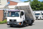 used MAN three-way side tipper truck