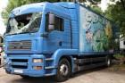 camion furgone plywood / polyfond MAN incidentato