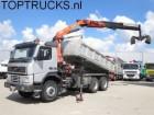 camión Volvo FM 12.340 PALFINGER CRANE 2 SIDE TIPPER MANUAL S