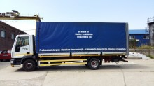 camion camion platforma cu prelata si obloane Iveco second-hand