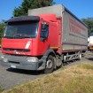 used Renault tarp truck
