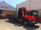 camión caja abierta estándar Scania usado