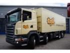 camion ribaltabile Scania incidentato