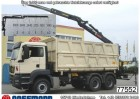 camión MAN TGS 33.540BB 6x4 Kipper mit Kran Jonsered J1300R