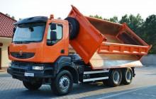 ciężarówka Renault Kerax Kerax 450 DXI / 6x6 / HYDROBURTA + Wywrot 3.str