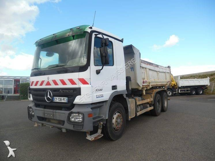 Camion mercedes bi benne lohr actros 3332 6x4 euro 3 for Porte universelle benne