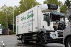 camion frigo monotemperatura Iveco incidentato