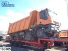camion benne Iveco accidenté