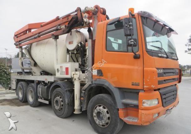 camion daf b u00e9ton malaxeur   pompe cf85 8x4 euro 3 occasion