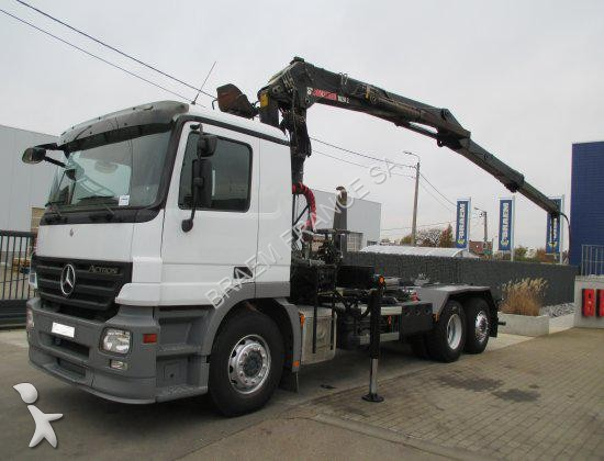 Camion porte containers occasion mercedes actros actros - Camion porte container avec grue occasion ...