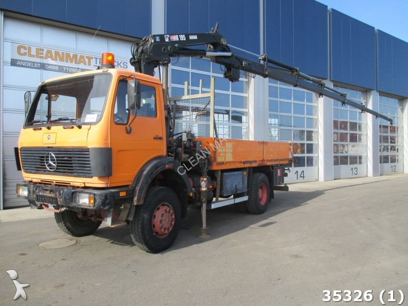 camion polybenne occasion mercedes 1928 sk 4x4 with hiab 19 ton meter crane 1997 gazoil grue. Black Bedroom Furniture Sets. Home Design Ideas
