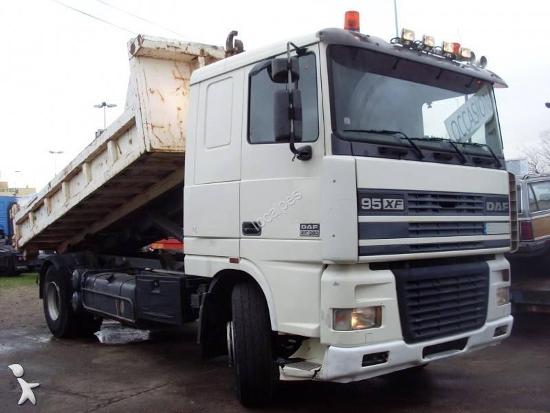 camion daf polybenne xf95 380 4x2 gazoil euro 2 occasion