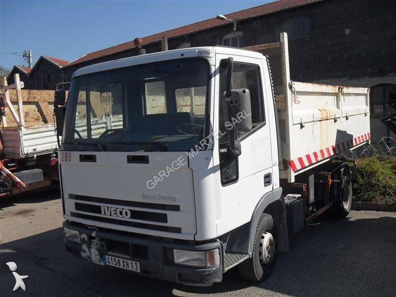 Camion iveco ribaltabile eurocargo 75e12 4x2 euro 2 usato for Garage martel grigny