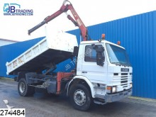 camión Scania P93 230 Manual, HMF 1003 K1 Crane, Steel suspens