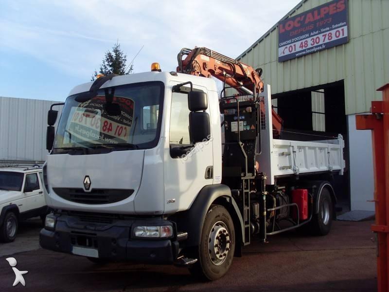Camion renault benne gazoil euro 5 grue occasion n 1552595 for Garage renault saint denis