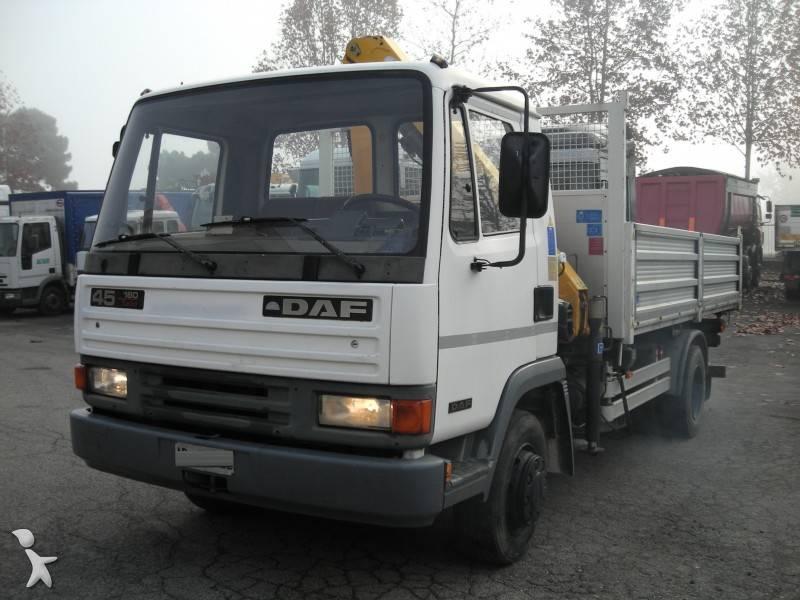 Camion daf ribaltabile trilaterale lf45 fa 160 4x2 gru - Portata massima camion italia ...
