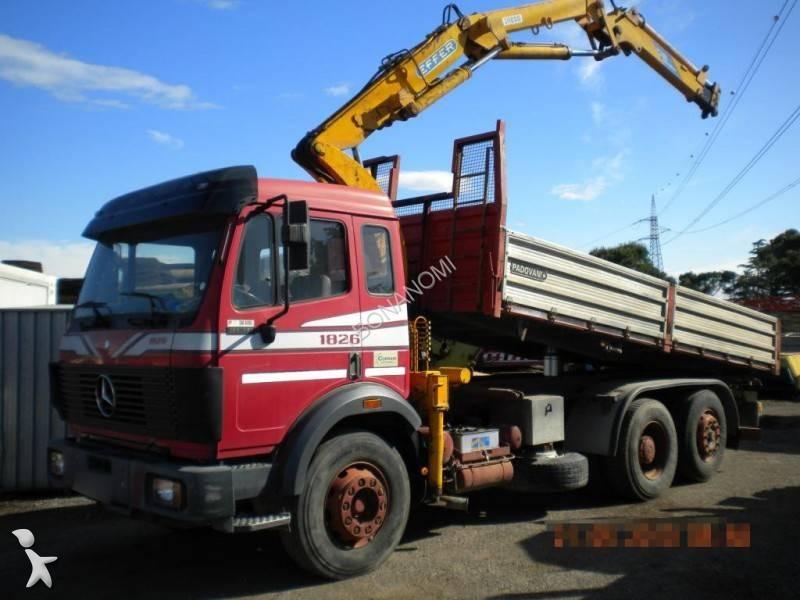 Camion mercedes ribaltabile trilaterale 1826 euro 0 gru - Portata massima camion italia ...