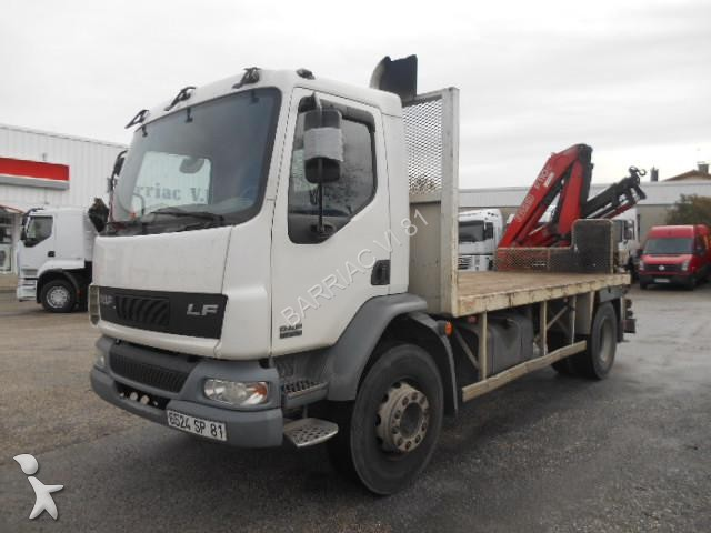 used daf lf55 standard flatbed truck 220 4x2 diesel euro 3 crane n 1578219. Black Bedroom Furniture Sets. Home Design Ideas
