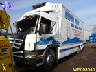 camion frigo Scania incidentato