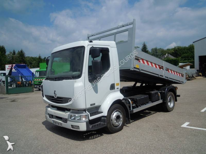 Camion renault benne midlum euro 3 occasion n 1608929 for Porte universelle benne