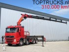 camión Volvo FH 520 8x4 PALFINGER PK60002 CRANE/KRAN + WINCH/