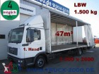 camion MAN TGL 12.180Schiebeplane*7,30m lang *47m³ LBW1.5t.