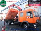 camion MAN LE 14.220*7 Sitzer*3 S.-Kipper*Kran PK12502+FB