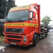 camion piattaforma standard Volvo incidentato