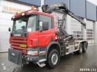 Scania P 114.340 6x6 with Hiab 12 ton/meter crane truck