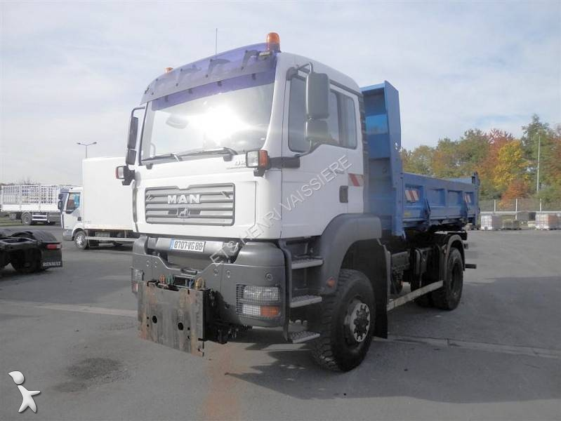 Camion man bi benne tga 4x4 euro 3 occasion n 1652507 for Porte universelle benne