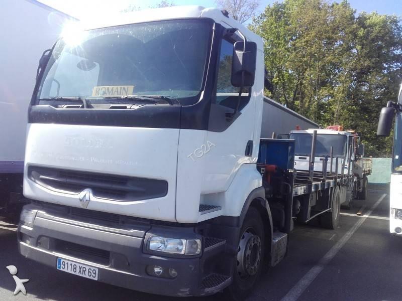 camion renault plateau porte fer premium 340 4x2 gazoil euro 2 grue occasion n 1654522. Black Bedroom Furniture Sets. Home Design Ideas
