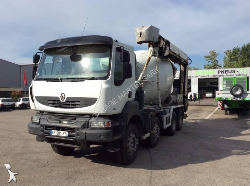 Camion renault b ton toupie malaxeur kerax 410 dxi 8x4 for Garage martel grigny