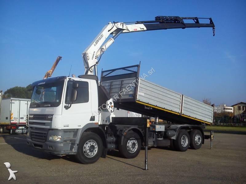 Camion daf ribaltabile cf85 460 euro 5 gru autogr usato - Portata massima camion italia ...