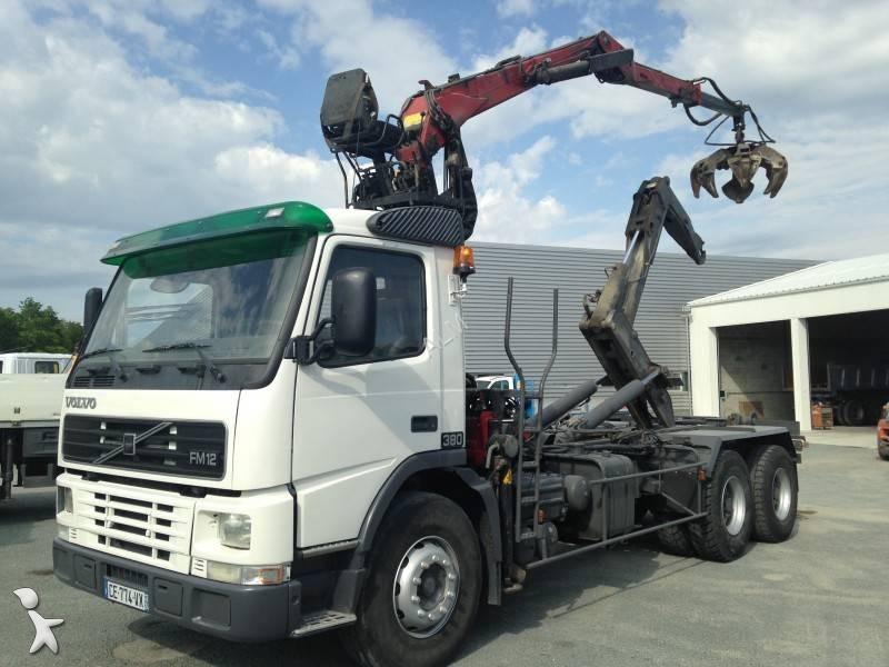 camion volvo polybenne guima fm12 380 6x4 euro 3 grue. Black Bedroom Furniture Sets. Home Design Ideas