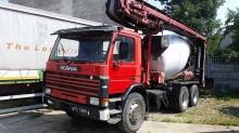 camion béton malaxeur + pompe Scania occasion