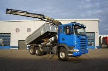 camión Scania R420 kipper + Kraan Retarder 6x4 Full Steel