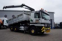 camion Mercedes Actros 3340 6x4 Hiab 125-2 crane + Tipper Semi-A