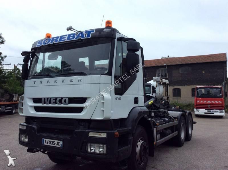 Camion iveco polybenne trakker 410 6x4 euro 5 occasion n for Garage martel grigny