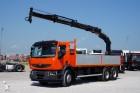 ciężarówka Renault PREMIUM / 370.26 / / SKRZYNIOWY + HDS /