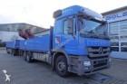 Mercedes Actros 2544 6x2 Pritsche Kran HIAB 166E Funk truck