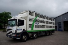 camión Scania 114-380 8x4 Euro 2 Animal Transport
