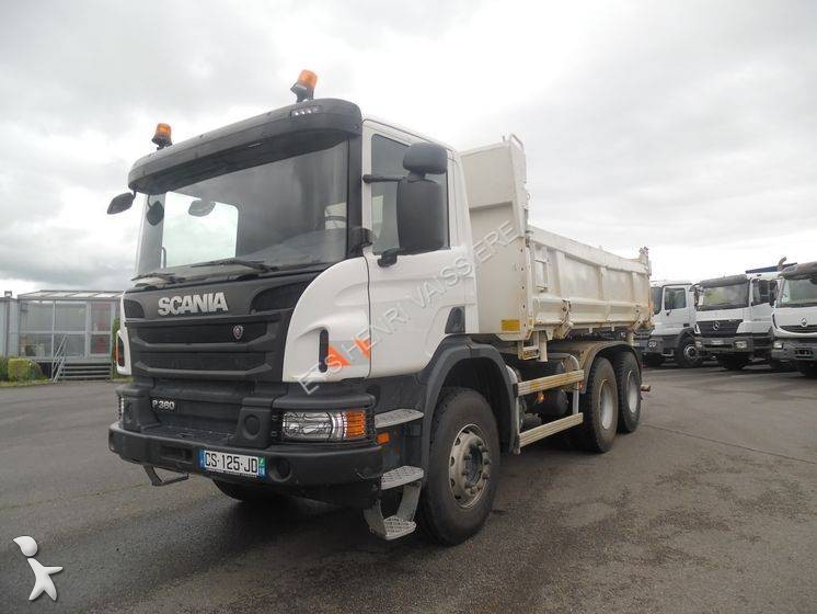 Porte Universelle Benne Of Camion Scania Bi Benne Lohr P 360 6x4 Euro 5 Occasion N