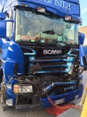 camion cassone centinato teloni scorrevoli Scania incidentato